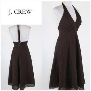 J.crew seersucker halter dress size 6